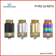 Original Vandy Vape PYRO 24 RDTA Tank 2ML/4ML with Innovation in fill mode Postless Build Deck for E Cigarettes Pre-order