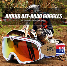 Harley Retro Off-road vintage Motocross MX Goggles Cycling Riding Outdoor Glasses for Motorcycle Helmet glasses Ski glasses