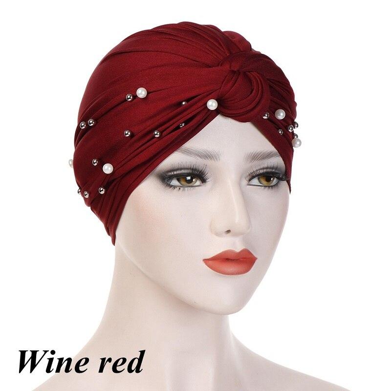 Headband-Indian-Muslim-Hijab-Islamic-Jersey-Beads-Cap-Stretchy-Pleated-Women-Turban-Hat-Knot-Head-Wrap(9)