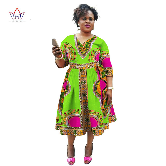 8a7b38248cb New Fashion Designs African Dresses for Women Traditional Clothing Women  V-Neck Women Autumn Dress