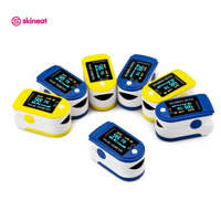 Skineat 2 Color Available Digital Finger Pulse Oximeter Portable Fingertip Blood Oxygen Pulse Oximeter Care For