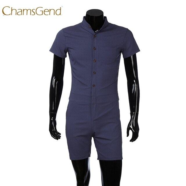 In Us10 Chamsgend Hemd Slim Spielanzug Taste Overall Männer 4 Sommer Kleidung Overalls Kurzarm chamsgend Mode Kurze Hose 30Off Casual Fit SqGUzMVp