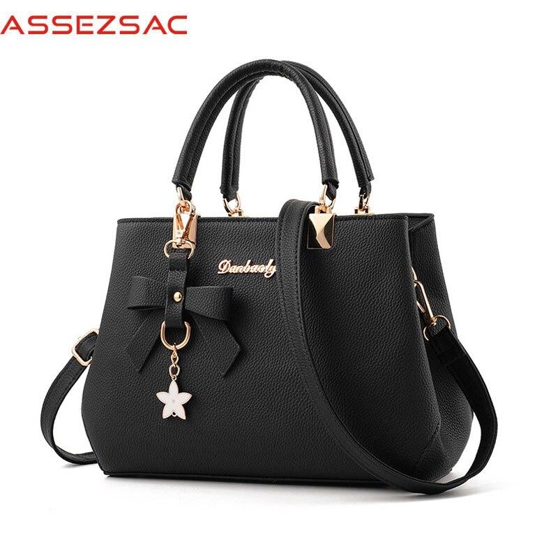 Assez sac Handbag Women PU Leather Handbags Lady Ornaments Zipper Letter Satchels Women Versatile Shoulder & Handbags A3019/j сумка handbags for women pu versatile handbag