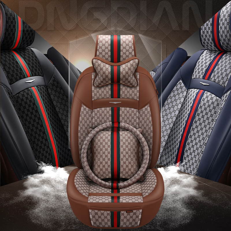 New 6D Styling Car Seat Cover For Toyota Camry 40 Corolla RAV4 Verso FJ Land Cruiser LC 200 Prado 150 120,,Styling