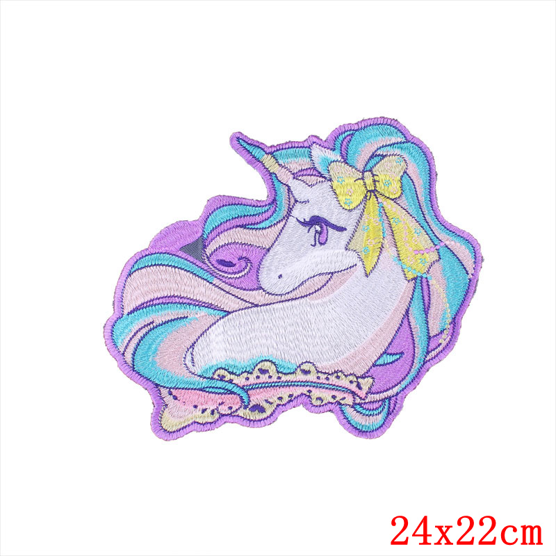 Large Unicorn Patch Horse Tender Clothes Patches Supplies Decorative Badges Applique Stickers Sewing Accessories Patchworks E