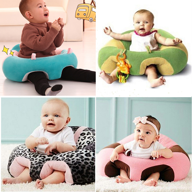 Kids Baby Support Seat Sit Up Soft Chair Cushion Sofa Plush Pillow Learn Seat