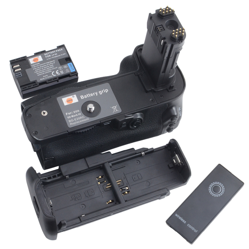 ФОТО DSTE BG-E20 Battery Grip + LP-E6 battery For CANON EOS 5D mark IV 5DIV 5D 4 with remote control Digital Camera