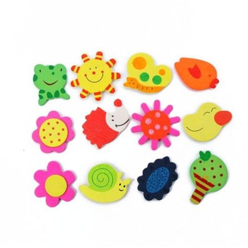 20 штук набор красочные Дети Детские Дерево мультфильм магнит на холодильник Обучающие игрушки Горячая