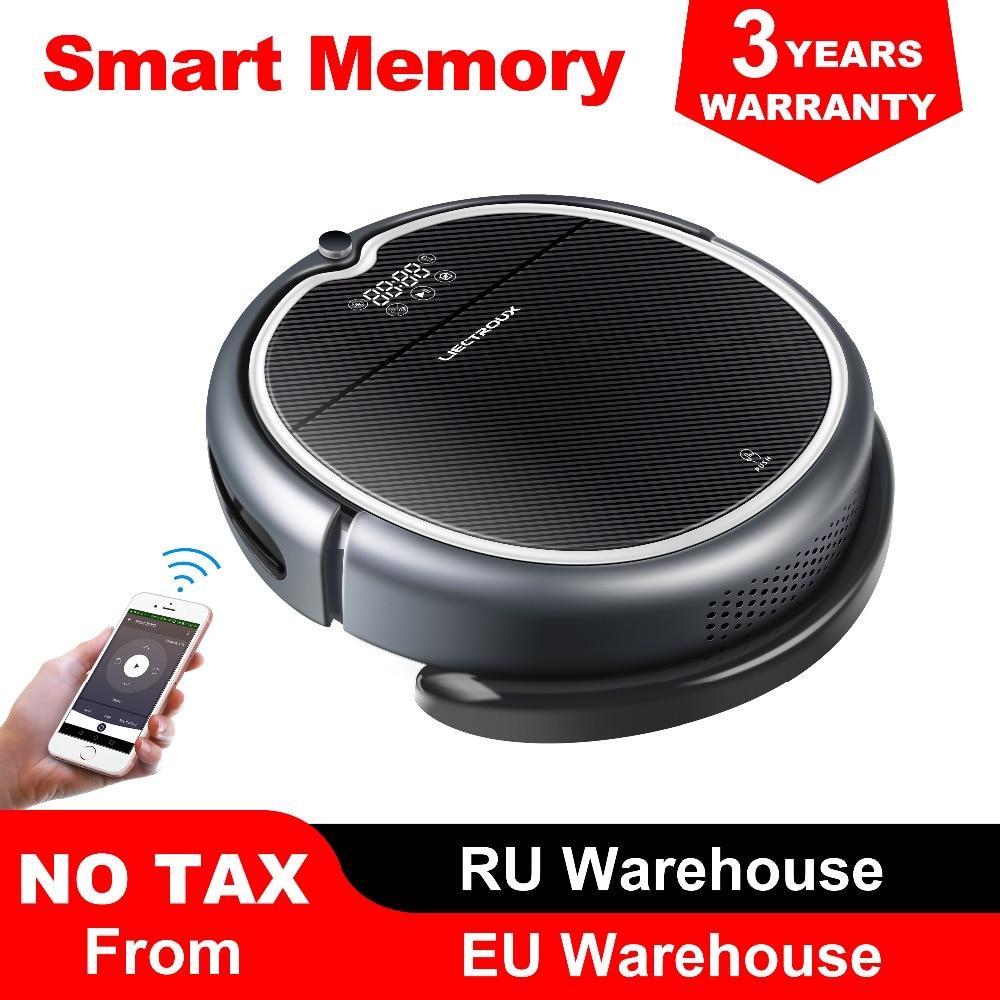 (Nuovo Arrivo) LIECTROUX Robot Aspirapolvere Q8000, WiFi App, Mappa di Navigazione, di Aspirazione 3000 Pa, di memoria, Asciutto Bagnato Mop, Best Aspirador