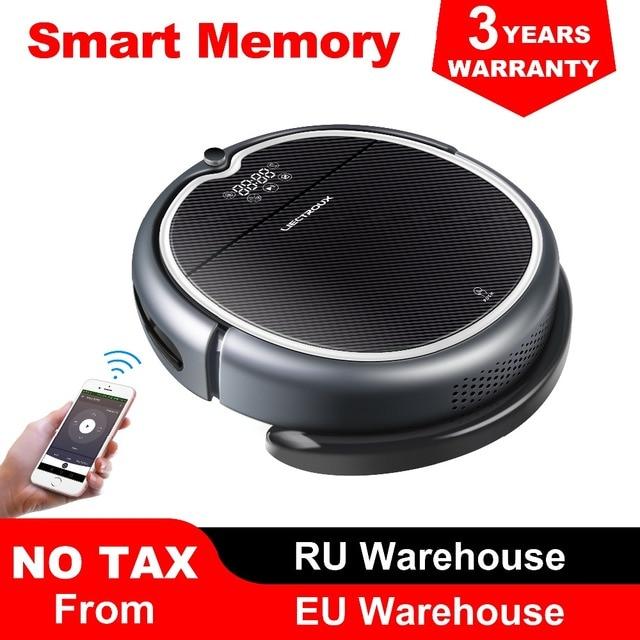 (New Arrival)LIECTROUX Robot Vacuum Cleaner Q8000, WiFi App, Map Navigation,Suction 3000Pa,Memory,Wet Dry Mop,Best Aspirador