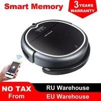 (Nieuwe Collectie) LIECTROUX Robot Stofzuiger Q8000  WiFi App  Kaart Navigatie  Zuig 3000 Pa  geheugen  Nat Droog Mop  Beste Aspirador-in Stofzuigers van Huishoudelijk Apparatuur op
