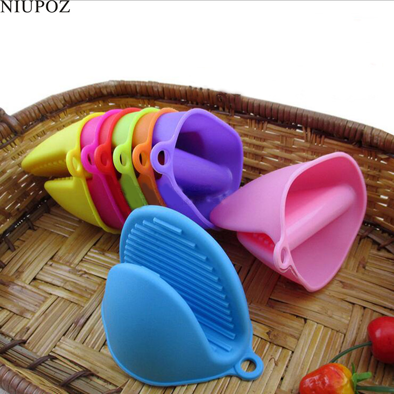 Silicone Oven Heat Insulated Finger Gloves Cooking Waterproof Microwave Non-slip Gripper Pot Holde Dishes Glove G175