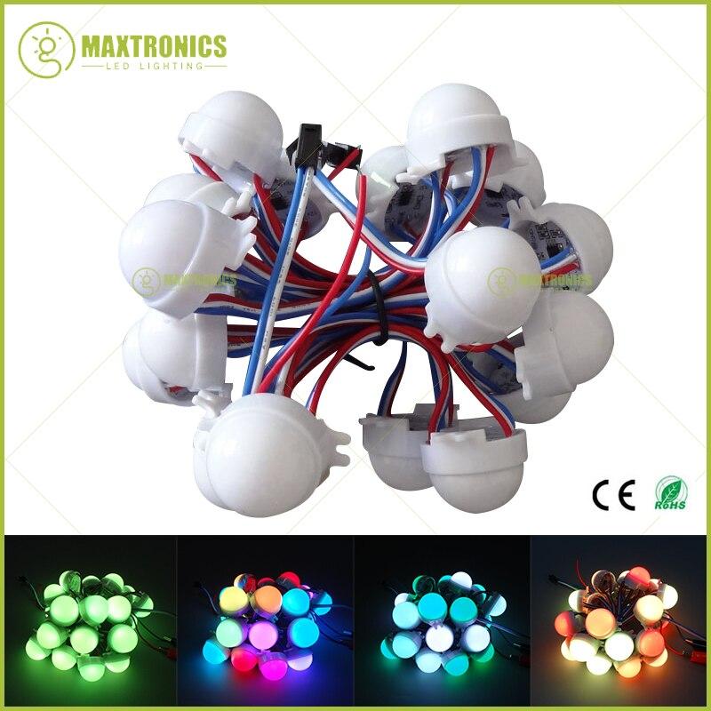 20pcs /lot Dc12v Ws2811 30mm Diffused Led Pixel Module Full Color 3 Leds 5050 Rgb Led Lamp String D30 Modules Lights & Lighting
