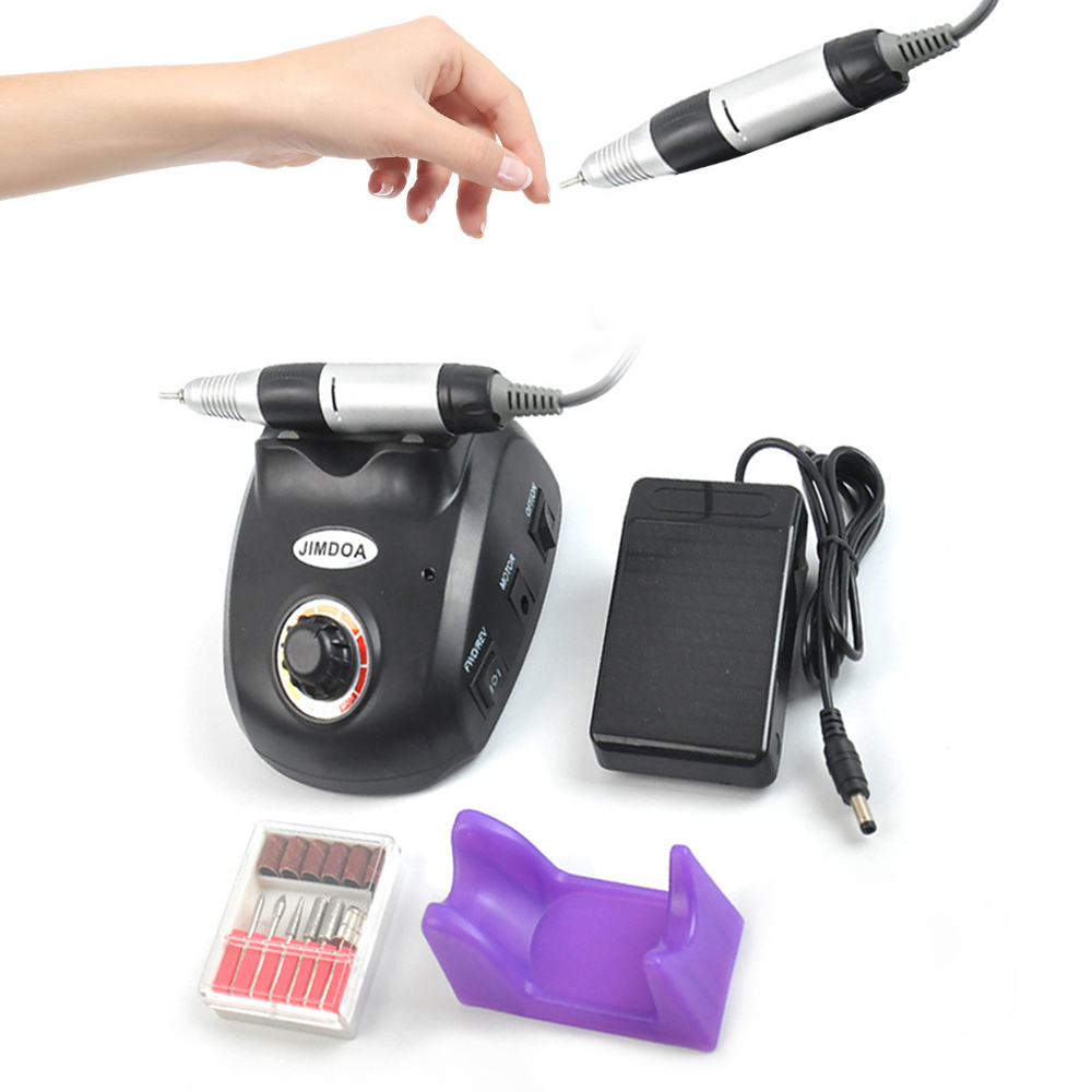 все цены на 30000RPM Electric Nail Drill Apparatus for Manicure Mill Drill Bits Cuticle Gel Remover Cutter for Pedicure Nail Milling Machine онлайн