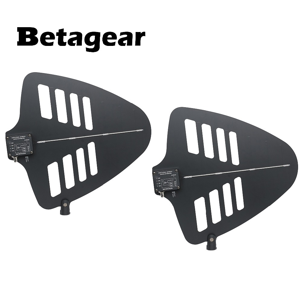 Betagear 2-Piece Active Directional Antenna UA848 New 4 gain switch (470-960MHz) signal booster unit for uhf wireless microphoneBetagear 2-Piece Active Directional Antenna UA848 New 4 gain switch (470-960MHz) signal booster unit for uhf wireless microphone