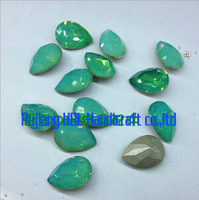 Top Quality Teardrop Greenopal Colour Crystal Sewing Rhinestones Gems For Wedding Dresses Accessary