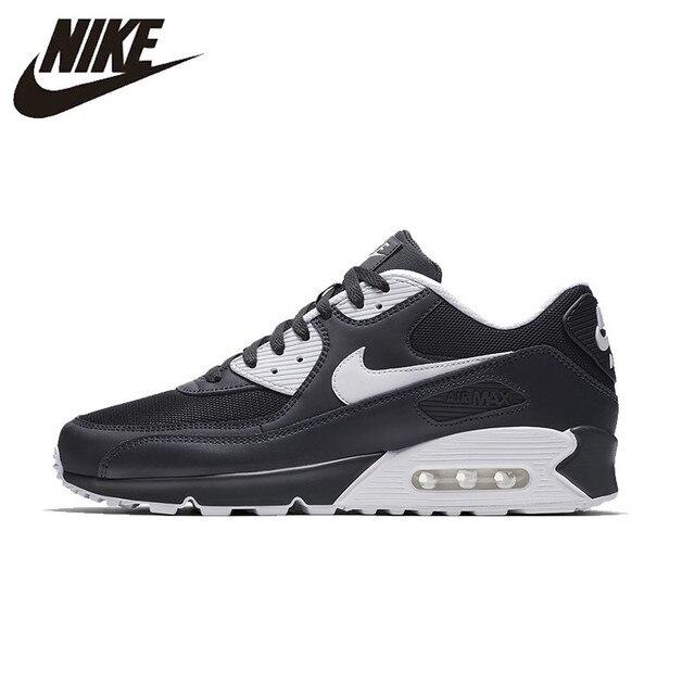 NIKE AIR MAX 90 zapatos de correr originales esenciales para Hombre Zapatos de malla transpirables zapatillas de deporte súper ligeras para hombres 537384- 089