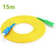 15 м SC APC к SC UPC SC PC G657A волоконный патч кабель, перемычка, патч корд Simplex 2,0 мм SM волоконный патч корд