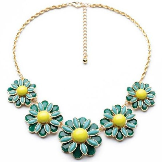 2017 New Limited Link Chain Collares Collier Maxi Necklace Fashion Flower Pendant Necklace Statement Collar Jewelry Wholesale