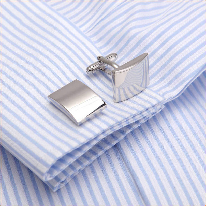 French Business mens cufflink Fathers Day top grade gift silver square shirt cuff nail alloy with crocodile cufflinks gift box