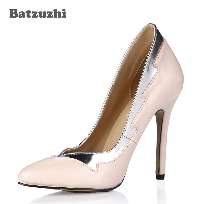 Batzuzhi Fashion Handmade Designer Shoes Women Nude High -3055