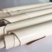 LEATHER HIDES COW SKINS light yellow thick genuine leather about 1.6 1.8 MM cowhide about 11 to 15 sq.ft.