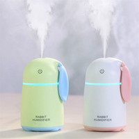 Rabbit Humidifier Usb Mini Air Humidifier Aroma Essential Oil Diffuser LED Lights Home Office Mist Maker