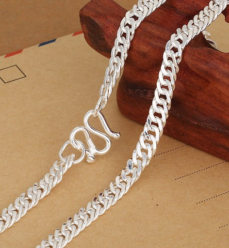 S990 Pure Silver Necklace For Men Children Boys Silver