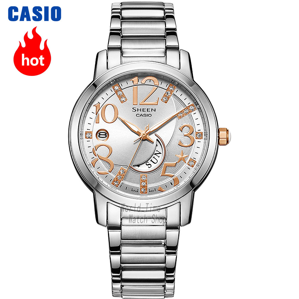Casio watch Casual fashion simple business waterproof strip ladies watch SHE-4028D-7A SHE-4028L-7A SHE-4029DA-7A SHE-4029PGL-7A casio she 5020l 7a