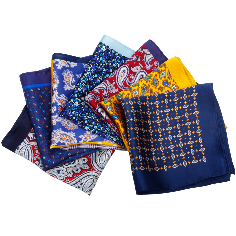 HOT SALE!! High Quality 100% Natural Silk Handmade Pocket Handkerchief Luxury Pocket Square Hanky With Giftbox