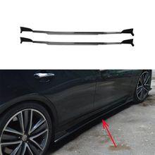 Боковые юбки из углеродного волокна, бампер для двери, фартуки, наборы для тела для Infiniti Q50 Q50S-, автомобильный Стайлинг
