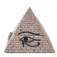 Classical Vintage Egyptian Pyramid Miniature Figurines Ornaments Home Jewelry Storage Box Resin Decoration Sandstone Crafts Gift