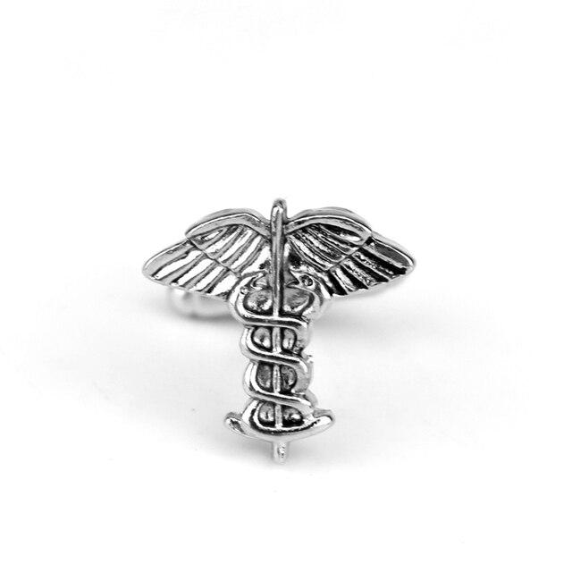RJ Hot Sale Medical Symbol Caduceus Cufflinks Doctors New Design Medical Students Nurse Stethoscope Cuff Links Graduation Gifts 5