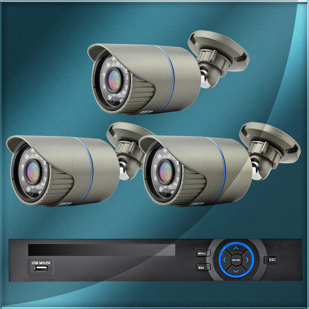 ONVIF 8CH 1080P D1 Survillance HDMI Network Video Recorder 3 IP CCTV Camera font b Camcorder