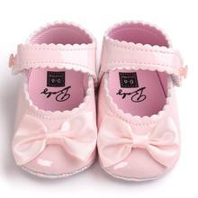 2019 wiosna amp Aumtum Baby Girl Bowwęzłem Leater Shoes Sneaker antypoślizgowa Miękka podeszwa Toddler D1 tanie tanio TELOTUNY Dziewczynka Masz Drukowania Bawełna Sznurowane Węzeł motylkowy Wiosna jesień Pasuje do rozmiaru Weź swój normalny rozmiar