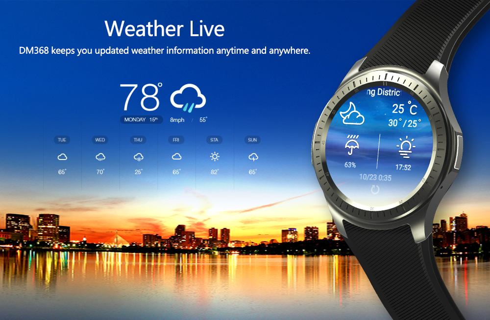 2017 New Smart Watch SmartWatch DM368 1.39 AMOLED Display Quad Core Bluetooth4. Heart Rate Monitor WristWatch iOS Android smart watch smartwatch dm368 1 39 amoled display quad core bluetooth4 heart rate monitor wristwatch ios android phones pk k8