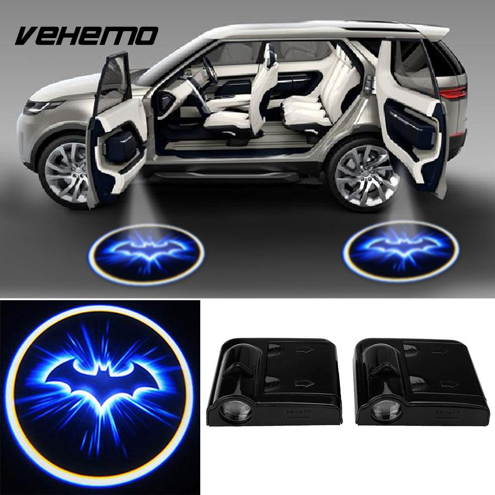 2pcs Wireless LED Car Door Welcome Laser Batman Courtesy Ghost Shadow Light