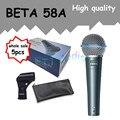 5 шт. оптовая Высокое Качество Beta 58A 58 Clear Sound Пульт Проводной Микрофон Караоке