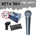 5pcs wholesale High Quality Beta 58 58A Clear Sound Handheld Wired Karaoke Microphone
