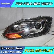 Автомобильный Стайлинг для VOLKSWAGEN Polo Mk5 Vento для GTI стильные фары Red Line Polo светодиодный головной фонарь 2010 2011 2012 2013 год