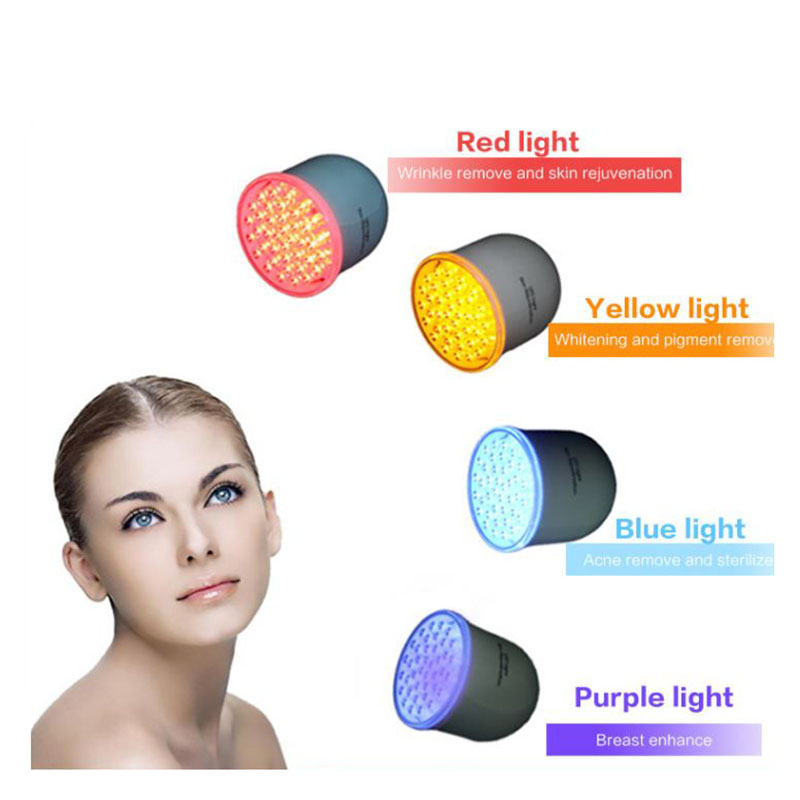 LED Красочный нежную кожу инструмент акне удаление инструмента дома нежную кожу инструмент красоты