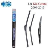 Front And Rear Windshield Wiper Blade For Kia Cerato 2004 2013 Windscreen Silicone Rubber Auto Car