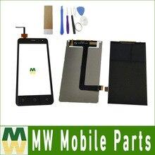 Получить скидку 1 шт./лот Высокое качество для Micromax Canvas темп Q415 отдельными Сенсорный экран и ЖК-Экран Дисплей черный Цвет с инструментами + лента