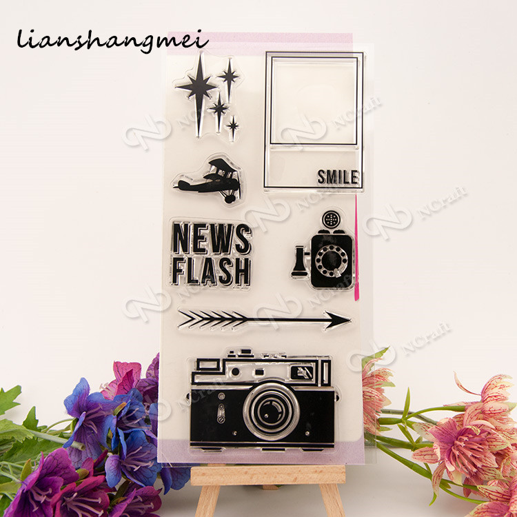 Camera Transparent Clear Silicone Stamp/Seal for DIY scrapbooking/photo album Decorative clear stamp sheets lovely elements transparent clear silicone stamp seal for diy scrapbooking photo album decorative clear stamp sheets