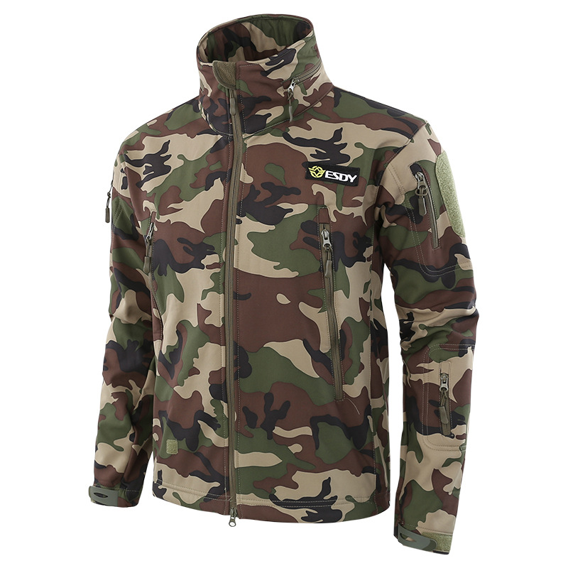 f8b2099082468 Shark Skin V5 Soft Shell Tactical Military Jacket Men Waterproof Winter  Fleece Coat Army Clothes Camouflage Jackets size S 3XL-in Jackets from Men's  ...