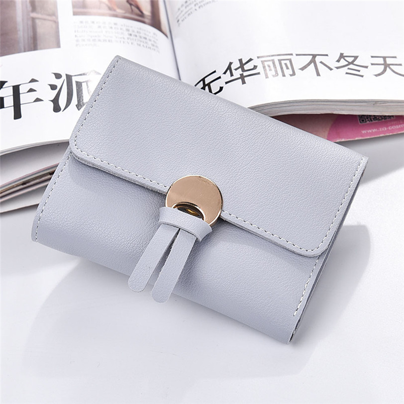Fashion Short Clutch Leather Wallet Women Luxury Brand Coin Purse Small Handbag Womens Wallets and Purses Wholesale noJY11 vintage card holders women wallet clutch wallet womens wallets and purses leather purse for the girls coin purse carteras mujer