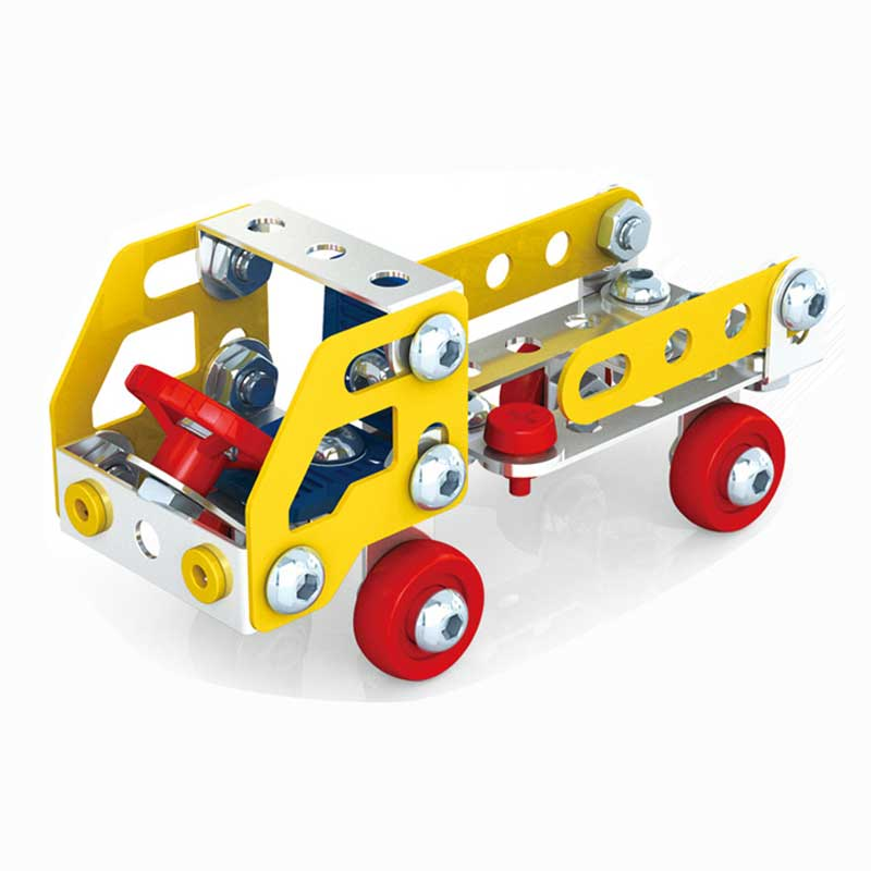 DIY Truck Model Building Kits 3D Metal Constructor Educational Toys Blocks Creative Assembly Truck Kits For Children Boy Gift