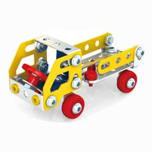 DIY Truck Model Building Kits 3D Metal Constructor Educational Toys Blocks Creative Assembly Truck Kits For Children Boy Gift цена 2017