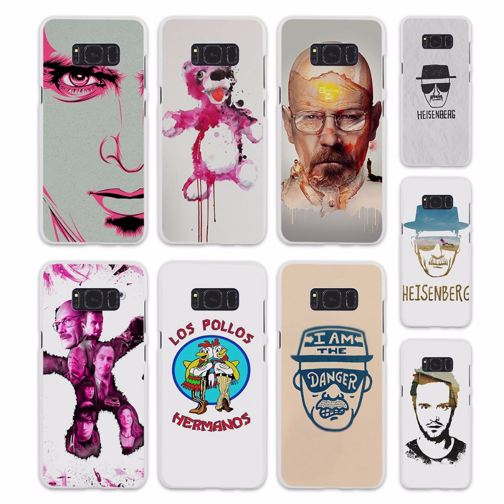 breaking bad heisenberg TV SHOW Case for Samsung Galaxy s6 s7 edge S8 Plus s5 mini note 5 4 hard White Case Cover ...