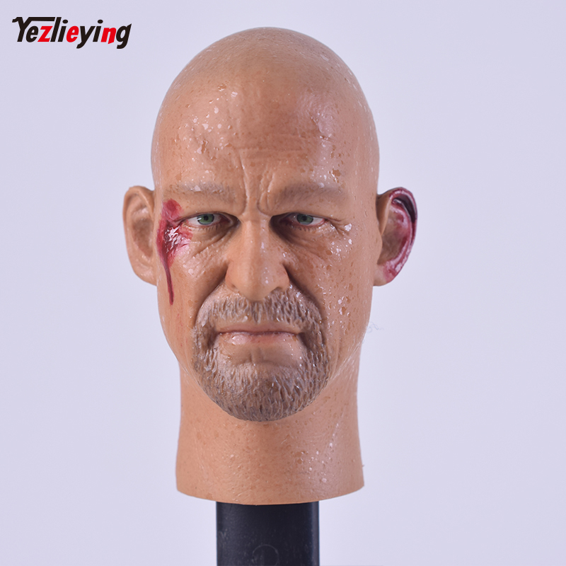 TopToys Headplay 1/6 Scale Accessories Head Sculpt Male Hot Sideshow Custom 01 Steve Austin F 12